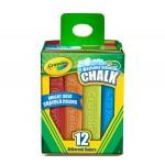 Crayola SIDEWALK CHALK 12pc asstd