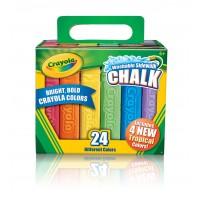 Crayola SIDEWALK CHALK 24pc asstd