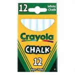 CRAYOLA CHALK BOARD CHALK WHITE 12pc