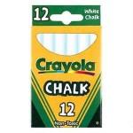 CRAYOLA CHALK BOARD CHALK WHITE 12pc