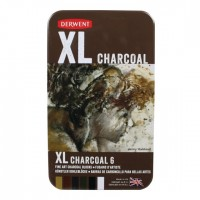 DERWENT XL TINTED CHARCOAL BLOCKS Set 6