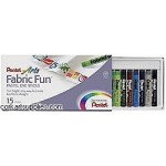 PENTEL FABRIC CRAYONS set 15