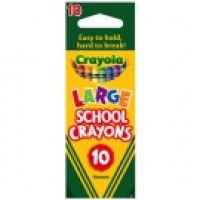 CRAYOLA LARGE SCHOOL CRAYONS 10pc