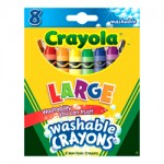 CRAYOLA LARGE WASHABLE CRAYONS 8pc