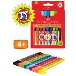 FABER CRAYONS CONNECTOR TWISTABLE PEN 10pc asstd