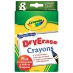 CRAYOLA WHITEBOARD CRAYONS 8pc