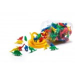 COUNTERS DINOSAUR 8 SHAPES 4 COLOURS 128pc