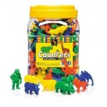 COUNTERS WILD ANIMAL 10 SHAPES 4 COLOURS 120pc