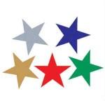 ADHESIVE STARS SILVER 150pc