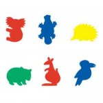 FOAM SHAPES Australian Animals 60pc