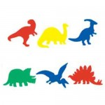 FOAM SHAPES Dinosaurs 60pc