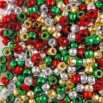 PONY BEADS METALLIC XMAS COLS PLASTIC
