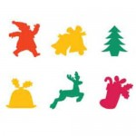 FOAM SHAPES Christmas Shapes 60pc