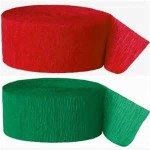 Crepe STREAMERS Christmas Colours 6rolls