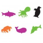 FOAM SHAPES Sealife 60pc