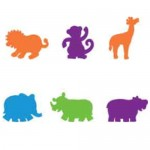 FOAM SHAPES Jungle Animals 60pc