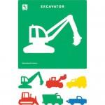 E.C. JUMBO STENCILS CONSTRUCTION 6pc
