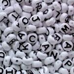 PONY BEADS ALPHABET PLASTIC