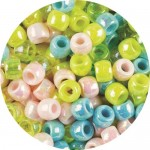 BEADS PLASTIC PEARL asstd 1000pc