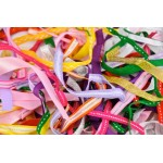 RIBBONS PACK asstd COLOURS LENGTHS 35gm