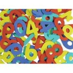 FOAM SHAPES Numbers 100pc