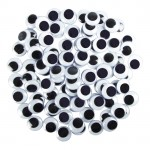 MOVING EYES 7mm Round 100pc