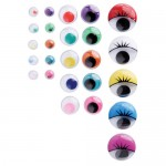 MOVING EYES COLOURED asstd Sizes 100pc