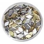 SEQUINS IN A JAR DIAMONDS GOLD/SILVER 50gm