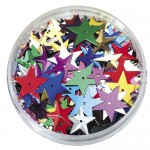 SEQUINS STARS LARGE 25gm asstd