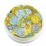 SEQUINS IN A JAR HOLOGRAM SHAPES 50gm asstd