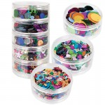 SEQUIN STACKABLES MIX SHAPES COLOURS 5pc 100gm