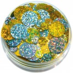 SEQUINS IN A JAR HOLOGRAM GOLD/SILVER  50gm asstd