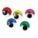 MOVING EYES COLOURED asstd 15mm Round 100pc