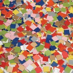 MOSAIC CARDBOARD TILES Plain Colour asstd 2x2cm 4000pc
