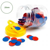 COUNTERS 25mm Red Blue 200pc
