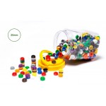 COUNTERS STACKING 10 COLOURS 500pc