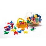 COUNTERS SEA LIFE 14 SHAPES 6 COLOURS 84pc