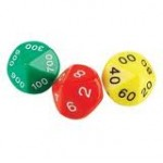 10-SIDED MOULDED JUMBO PLACE VALUE DICE