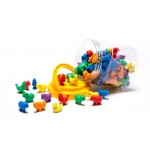 COUNTERS FARM ANIMALS 6 SHAPES 6 COLOURS 108pc