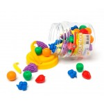 COUNTERS FRUIT 6 SHAPES 6 COLOURS 108pc