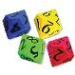 10-SIDED GIGANTIC MOULDED FOAM DICE 14cm