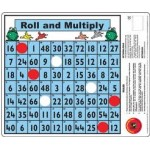 ROLL and MULTIPLY MATHS DESK GAME