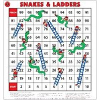 SNAKES & LADDERS FLOOR GAME