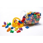 COUNTERS TRANSPORT 6 SHAPES 6 COLOURS 144pc