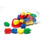 TRANSPORT LINKING BLOCKS 3 SHAPES 4 COLOURS 36pc