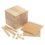 BASE TEN BLOCKS WOODEN BASE TEN SET