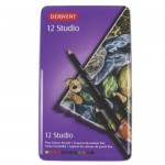 DERWENT STUDIO COLOURED PENCILS 12pc asstd