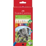 FABER CASTELL COLOURED PENCILS RED RANGE 10pc asstd