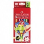FABER CASTELL COLOURED PENCILS JUNIOR GRIP 10pc asstd
