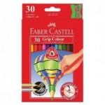 FABER CASTELL COLOURED PENCILS JUNIOR GRIP 30pc asstd
